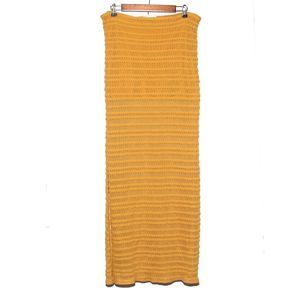 NWOT Threads4Thought Gold Maxi Skirt Size L